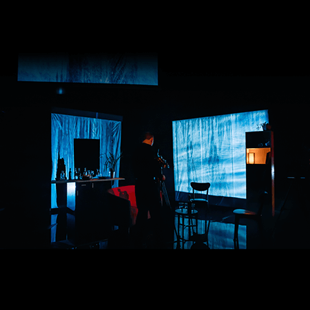 Set Lighting and Video Projection Design for The Destroyed Room Vanishing Point Glasgow